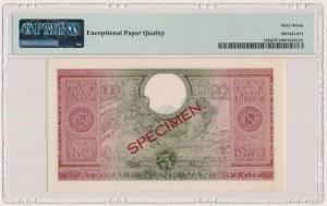 Belgia, 100 Francs / 20 Belgas 1943 - SPECIMEN