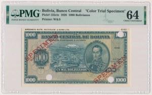 Boliwia, 1.000 Bolivianos 1928 - próba koloru - SPECIMEN