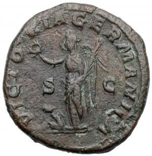 Maksymin Trak (235-238 n.e.) Sesterc - Victoria Germanica