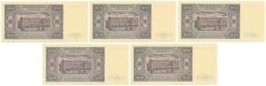 20 złotych 1948 - KE - zestaw (5szt)