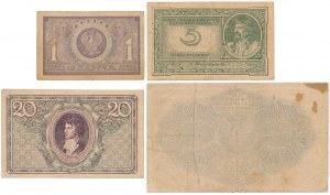 Zestaw marek luty - maj 1919 (4szt)