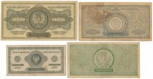 10.000 - 1 mln mkp 1922-1923 (4szt)