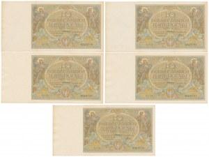 10 złotych 1929 - Ser.FD - zestaw (5szt)