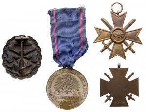 Niemcy / III Rzesza - zestaw odznak i odznaczeń (4szt)