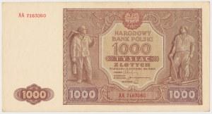 1.000 złotych 1946 - AA (Mił.122h)