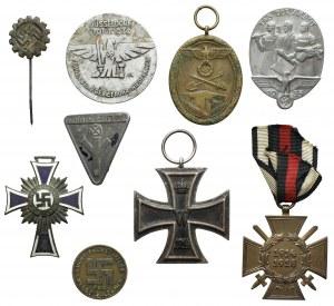 Niemcy / III Rzesza - zestaw odznak i odznaczeń (9szt)