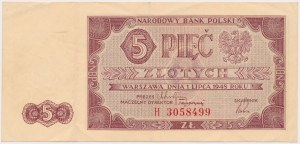 5 złotych 1948 - H