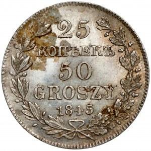 25 kopiejek = 50 groszy 1845 MW, Warszawa - bardzo ładne