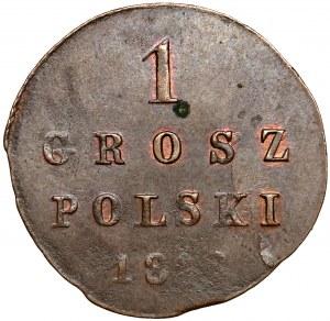 1 grosz polski 1818 I.B. - CIENKI krążek - PIĘKNY