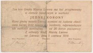 Lwów, 1 korona 1919
