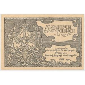 Polski Skarb Wojskowy, 5 złotych = 75 kopiejek 1916
