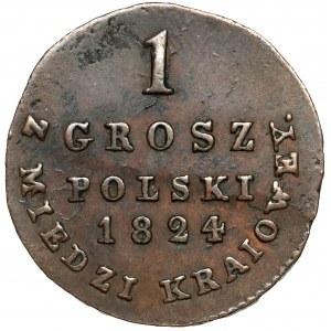 1 grosz polski 1824 I.B. z MIEDZI KRAIOWEY