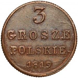 3 grosze polskie 1819 I.B. - piękne