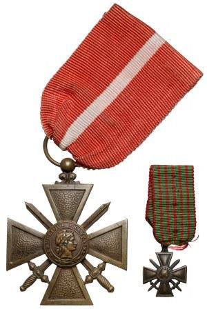 Francja, Krzyż za dzielność - z miniaturką
