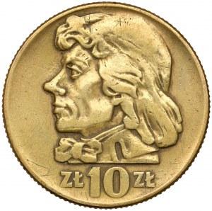 Falsyfikat z epoki 10 złotych 1959 Kościuszko - mosiądz