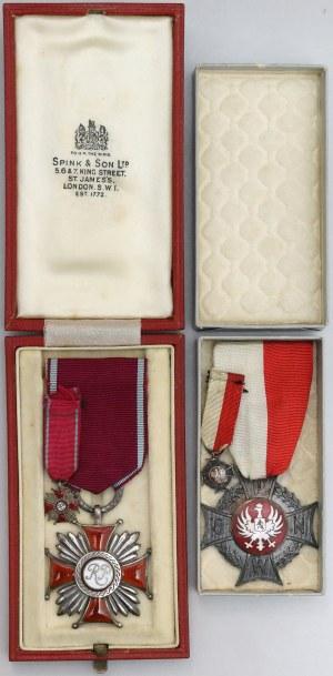 PSZnZ Zestaw imienny - Krzyż Zasługi (Spink) i Krzyż P.O.W.N.