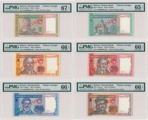 Białoruś, 1-100 rubli 1993 - SPECIMEN - KOMPLET (6szt)
