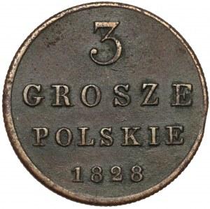3 grosze polskie 1828 FH - ładne