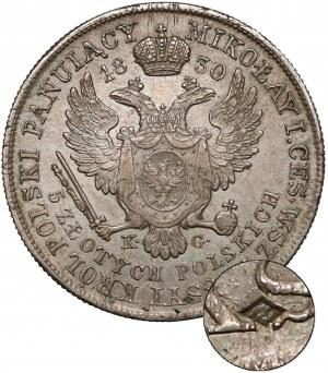 5 złotych polskich 1830 KG - Gronau - z puncą