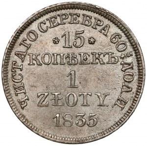 15 kopiejek = 1 złoty 1835 MW, Warszawa