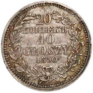 20 kopiejek = 40 groszy 1850 MW, Warszawa - b.ładne