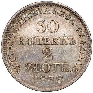 30 kopiejek = 2 złote 1838 MW, Warszawa