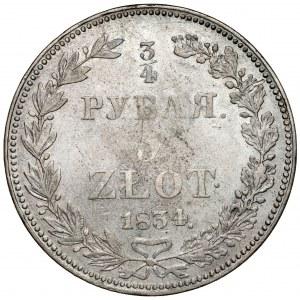 3/4 rubla = 5 złotych 1834 НГ, Petersburg - rzadkie