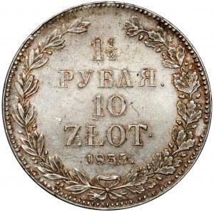 1-1/2 rubla = 10 złotych 1835 НГ, Petersburg - B.ŁADNE