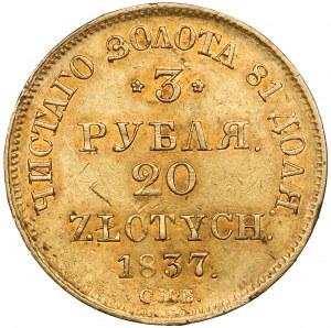 3 ruble = 20 złotych 1837 ПД, Petersburg