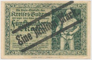 Guhrau (Góra Śląska), 500 mk PRZEDRUK na 1 mln mk 1923