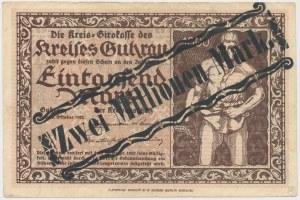 Guhrau (Góra Śląska), 1.000 mk PRZEDRUK na 2 mln mk 1923