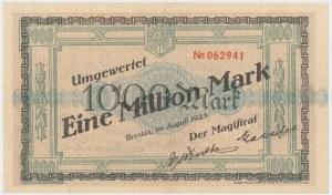 Breslau (Wrocław), 1.000 mk PRZEDRUK na 1 mln mk 1923