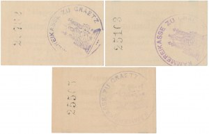 Gratz (Grodzisk Wlkp), 5, 10 i 25 pfg 1917 (3szt)