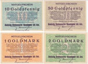 Grunberg (Zielona Góra), 10 Goldpfennig - 20 Goldmark 1923 (4szt)