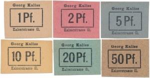 Breslau (Wrocław), Georg Kaliss 1 - 50 pf (6szt)