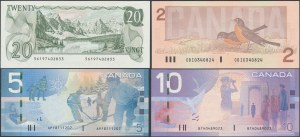 Canada, set od 2-20 Dollars 1979-2000 (4pcs)