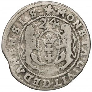 Zygmunt III, Falsyfikat z epoki Orta Gdańsk 1624 - bity - RZADKI