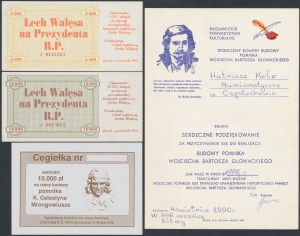 Cegiełki, Lech Wałęsa na Prezydenta i inne (4szt)