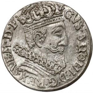 Gustaw II Adolf, Trojak Elbląg 1631 - bardzo ładny