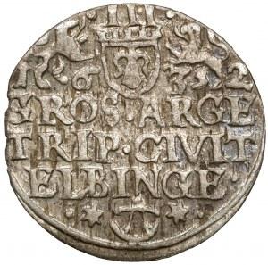 Gustaw II Adolf, Trojak Elbląg 1632 - miejski - bardzo ładny