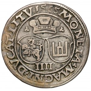 Zygmunt II August, Czworak Wilno 1565 - LI/LITV - rzadki