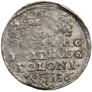 Stefan Batory, Trojak Poznań 1586 - data z prawej - rzadki