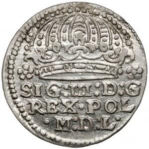 Zygmunt III Waza, Grosz Kraków 1613 - wczesny - PIĘKNY