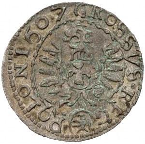 Zygmunt III Waza, Grosz Kraków 1607 - falsyfikat z epoki - b.ładny