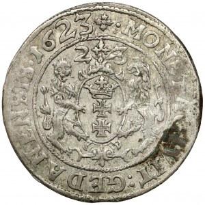Zygmunt III Waza, Ort Gdańsk 1623 - 2x data - rzadki