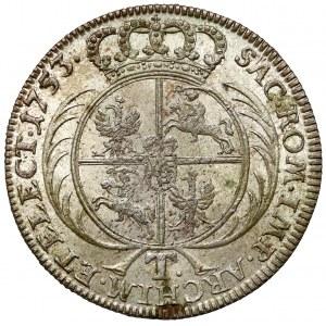 August III Sas, Tymf Lipsk 1753 - PIĘKNY