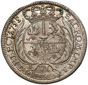 August III Sas, Szóstak Lipsk 1755 EC - rzadkie popiersie