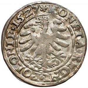 Zygmunt I Stary, Grosz Kraków 1527 - renesansowa - piękny