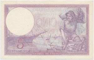France, 5 Francs 1933