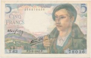 France, 5 Francs 1943